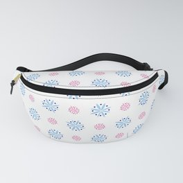 geometric flower 34 blue and pink Fanny Pack