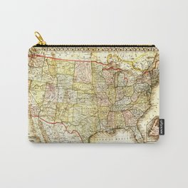 1867 USA Map Carry-All Pouch