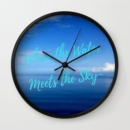 Text   Words   Sayings   Join Me...   Beach Vibes   Vacation Wall Clock