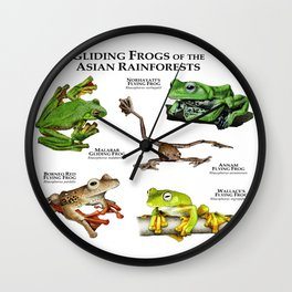 Gliding Frogs of the Asian Rainforests Wall Clock