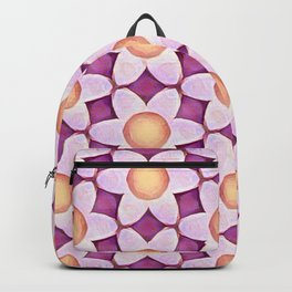 Chunky Flowers Peach Lavender Backpack