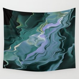 Teal Turbulence Wall Tapestry