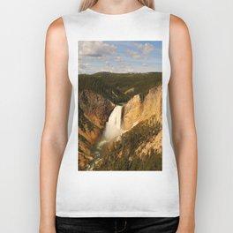Majestic Yellowstone Upper Falls Biker Tank