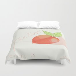 Feeling peachy Duvet Cover