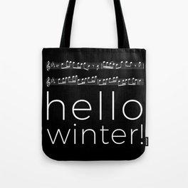 Hello winter! (black) Tote Bag