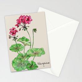Botanical illustration of Geranium Stationery Cards