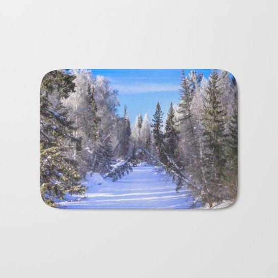 Frozen river Bath Mat