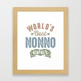 World's Best Nonno Framed Art Print