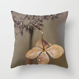 When days are getting colder Throw Pillow