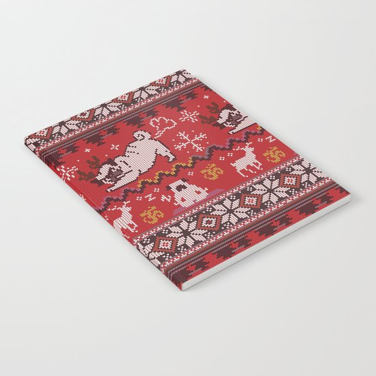 Pugly Yoga X-Mas Notebook