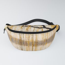 Weeping willow watercolor painting #8 Fanny Pack