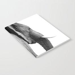 Black and white elephant portrait Notebook
