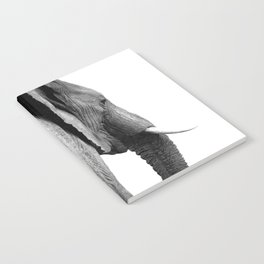 Black and white elephant portrait Notebook