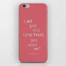 Can you? iPhone & iPod Skin