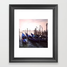 Gondola Venice Italy Travel Photography Framed Art Print
