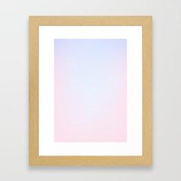 SOFT PALE - Plain Color Iphone Case Framed Art Print