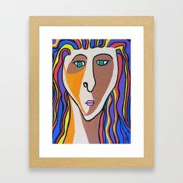 Janie Selfie Framed Art Print