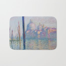 Le Grand Canal by Claude Monet Bath Mat