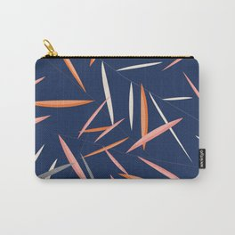Colored leaves in a dark blue background Carry-All Pouch