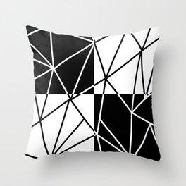 SEGMENTS (BLACK-WHITE) Throw Pillow
