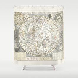 Star map of the Southern Starry Sky Shower Curtain