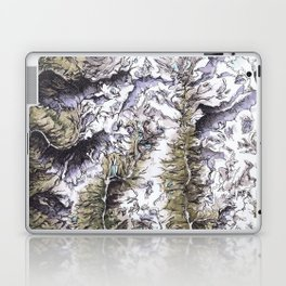 Saribung, Nepal - Watercolor and Ink artwork Laptop & iPad Skin