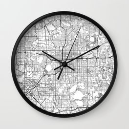 Orlando Map White Wall Clock
