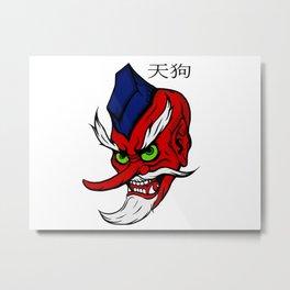 Legendary Tengu Demon Anime Style Metal Print