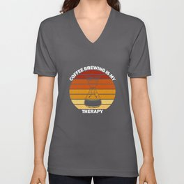 Funny Chemex Coffee Brewing Is My Therapy Gift Unisex V-Neck