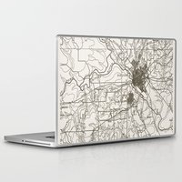 dallas Laptop & iPad Skins featuring Dallas Map by Zeke Tucker