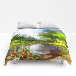 Summer lake Comforters