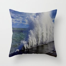 When Sandy Made Waves in Chicago #1 (Chicago Waves Collection) Throw Pillow