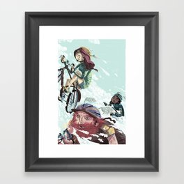 Bikes Not Bombs Framed Art Print
