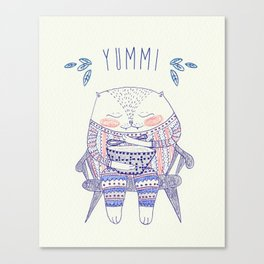 yummi cat Canvas Print