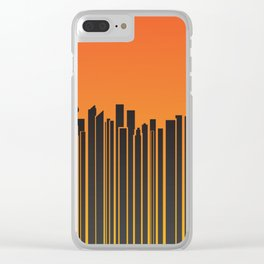 Sydney City Barcode Clear iPhone Case