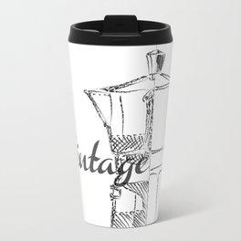 Coffee pot blueprint sketch  Travel Mug