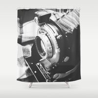 old school Shower Curtains featuring Old school  by Olivier P.