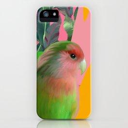 Love Bird with Palms iPhone Case