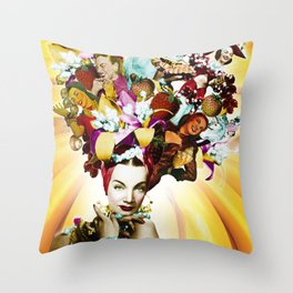 Carmen Miranda Collage Throw Pillow