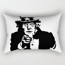 Black and White Uncle Trump Needs You Rectangular Pillow