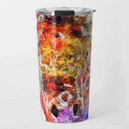 Giraffe Grunge Travel Mug