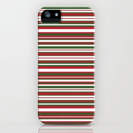 Christmas Striped Patterns iPhone Case