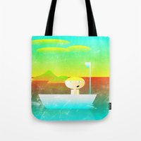 vector Tote Bags featuring The Adventure of Neb No. 1 by BCGenest