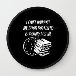 Book Boyfriend Wall Clock