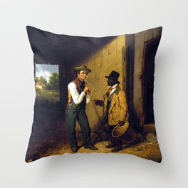 Francis William Edmonds All Talk and No Work Throw Pillow