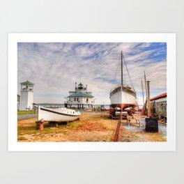 Chesapeake Bay Ship Building Art Print