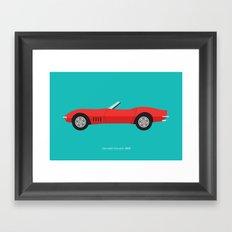 Chevrolet Corvette 1968 Framed Art Print