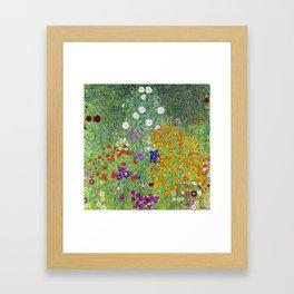 Flower Garden - Gustav Klimt Framed Art Print