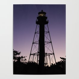 Sanibel Island Lighthouse Sunset Poster