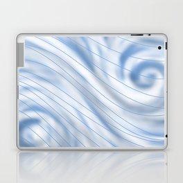 Blue Stripe on Blue Swirl Laptop & iPad Skin